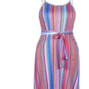 Spaghetti Strap with Pockets Maxi Summer Dress